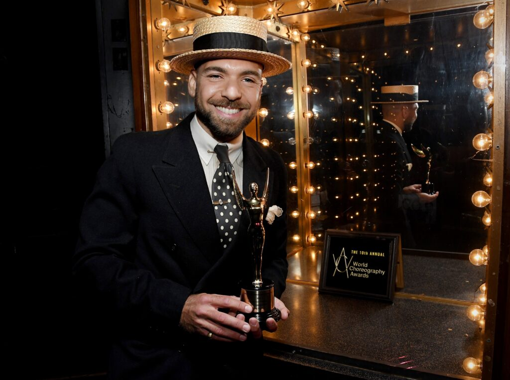 Jonathan Redavid wins Outstanding Choreography Digital Content Independent for COME TOGETHER at the 10th Annual World Choreography Awards held at the Avalon in Hollywood, CA on Sunday, May 16, 2021. (Photo By Sthanlee B. Mirador)